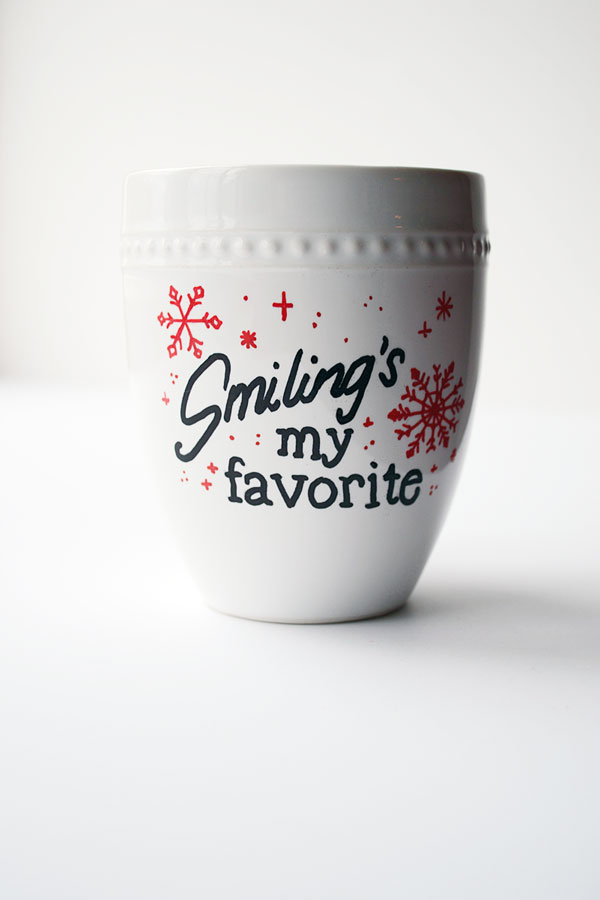 sharpie decorated mug