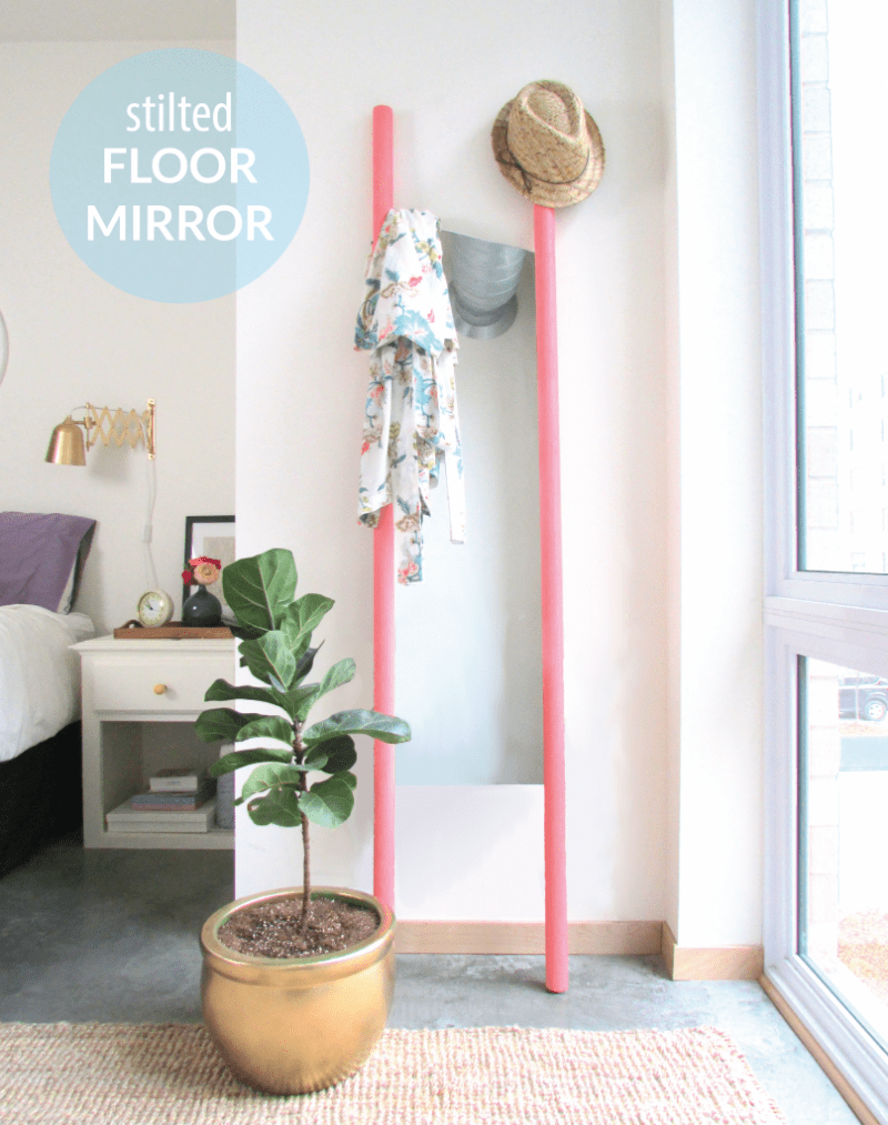 Picture Of super easy diy stilted floor mirror  2