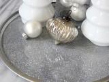 silver glitter tray