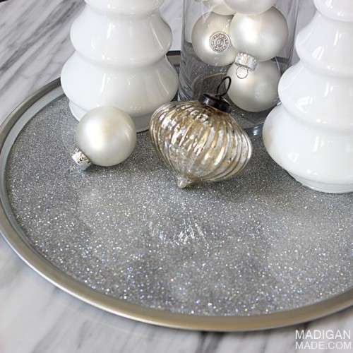 silver glitter tray (via madiganmade)