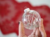 minimalist silver Christmas ornaments