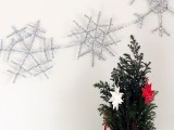 silver snowflake garland