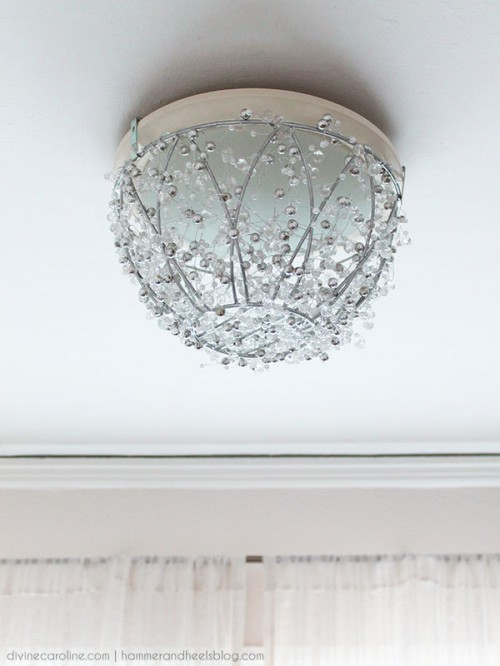Cute And Glam DIY Chandelier Renovation