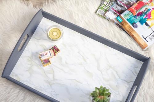 marble IKEA tray (via horsesandheels)