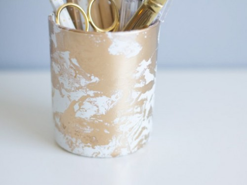 marble pencil cup (via shelterness)