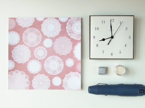 Sweet And Girlish Diy Clock Makeover