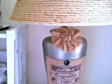 rustic and shabby lamp