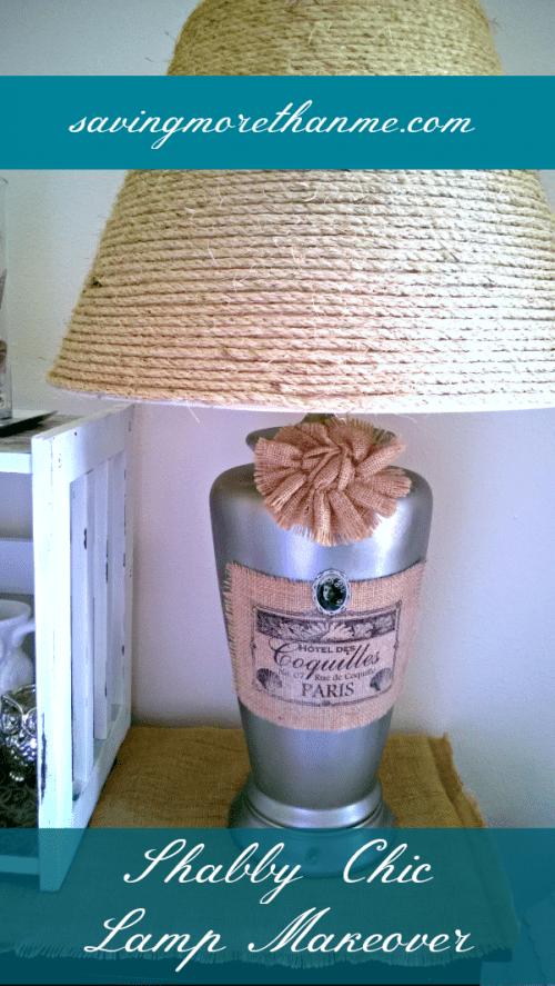 rustic and shabby lamp (via savingmorethanme)