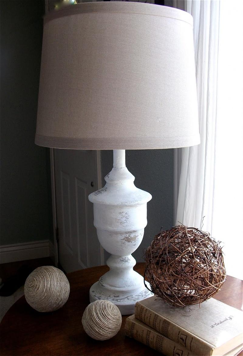 shabby chic lamp revamp