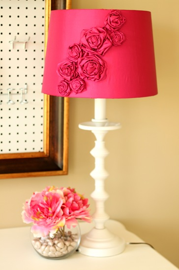 bold floral lamp