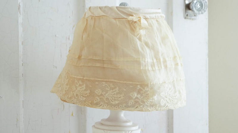 shabby chic fabric lampshade