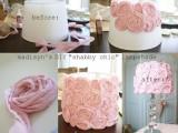 pink rosette lampshade