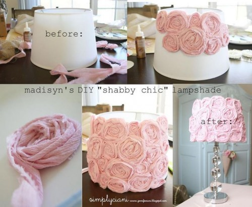 pink rosette lampshade (via lovethispic)
