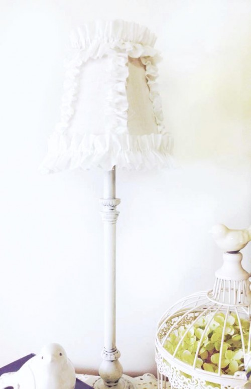 11 Sweet DIY Shabby Chic Lamps And Lights