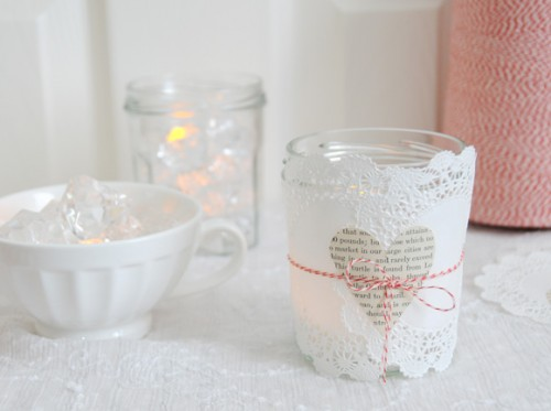 Sweet Diy Valentine Luminaries