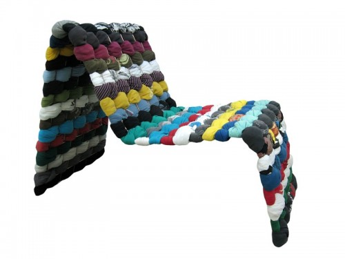 Comfy Chair Made Of T-Shirts