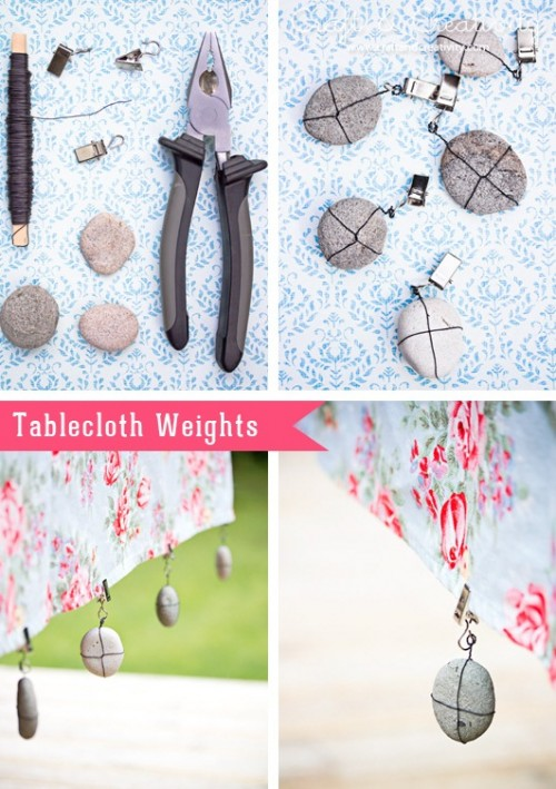 DIY Tablecloth Weights For Outdoor Meals