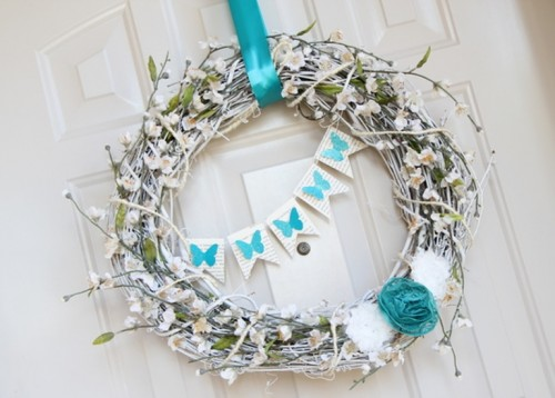 DIY Tender And Sweet Spring Blue Wreath