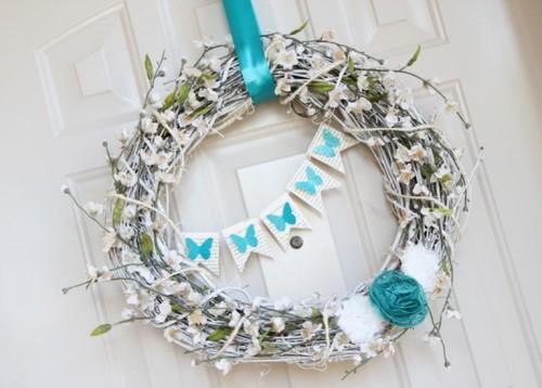 DIY Tender And Sweet Spring Blue Wreath