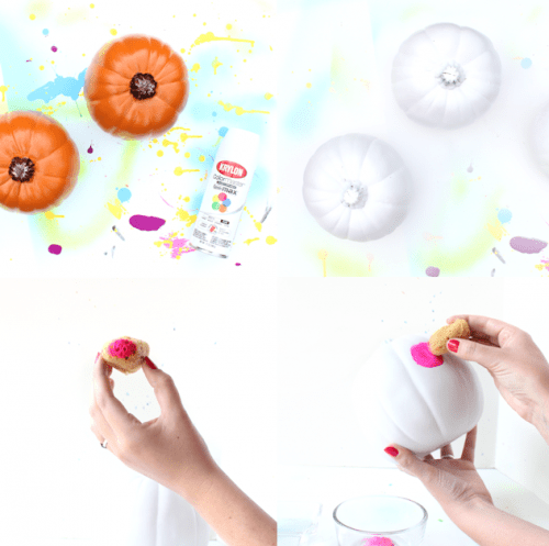 Tender DIY Watercolor Pastel Pumpkins
