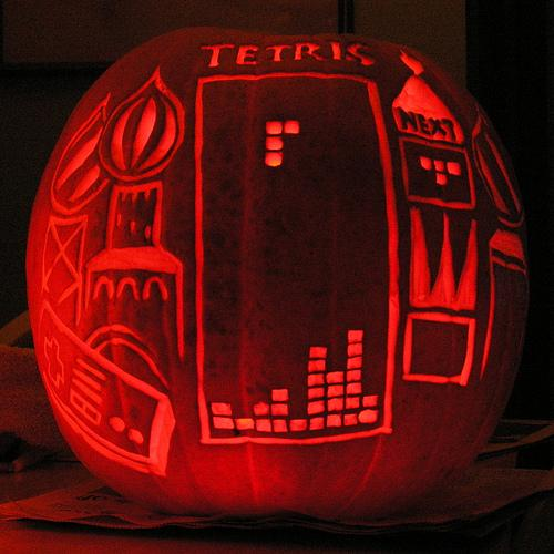 Tetris Game Pumpkin Carving