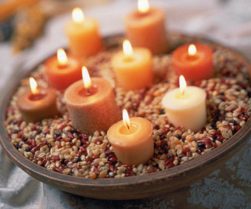 Thanksgiving Candle Displays
