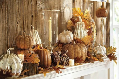 Thanksgiving Decoration Ideas 45 great thanksgiving mantel decorating ideas - shelterness