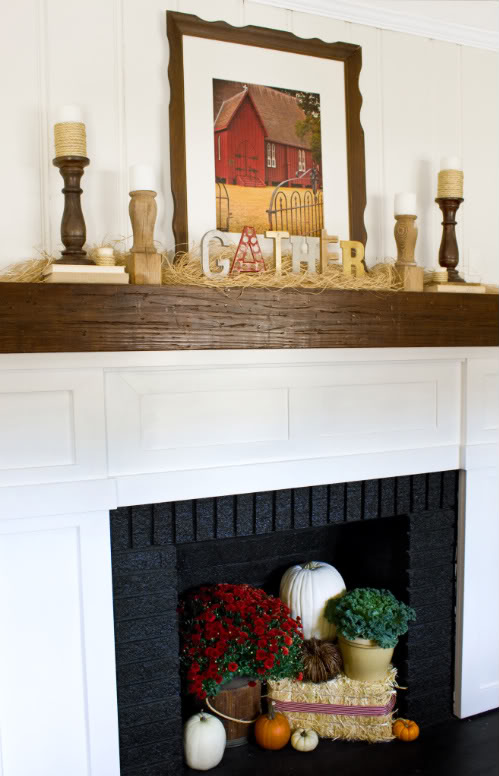 picture of thanksgiving mantel decorating ideas