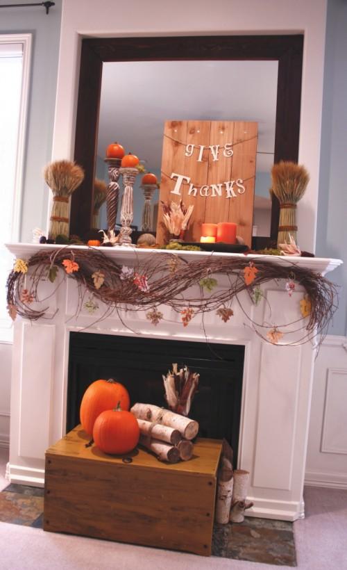 Fall Fireplace Mantel Decorating Ideas