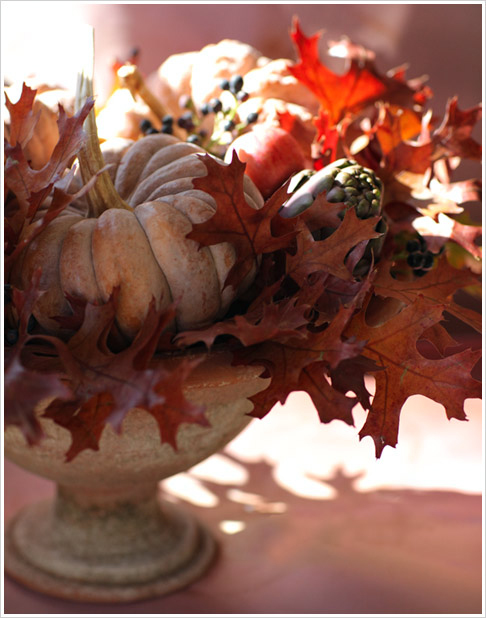 Picture of thanksgiving table centerpieces