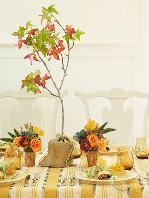 Thanksgiving centerpiece ideas shelterness