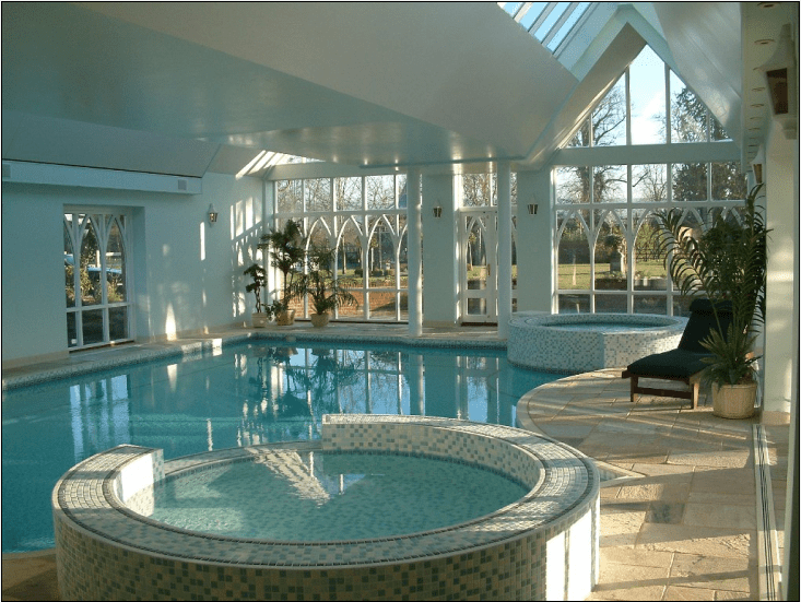 Picture of the greatest indoor pool designs ever for Swimming pool with jacuzzi design
