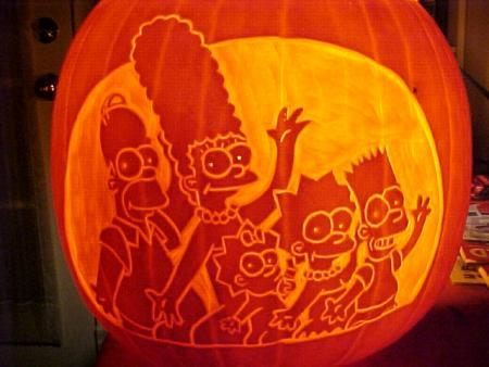 The Simpsons Pumpkin