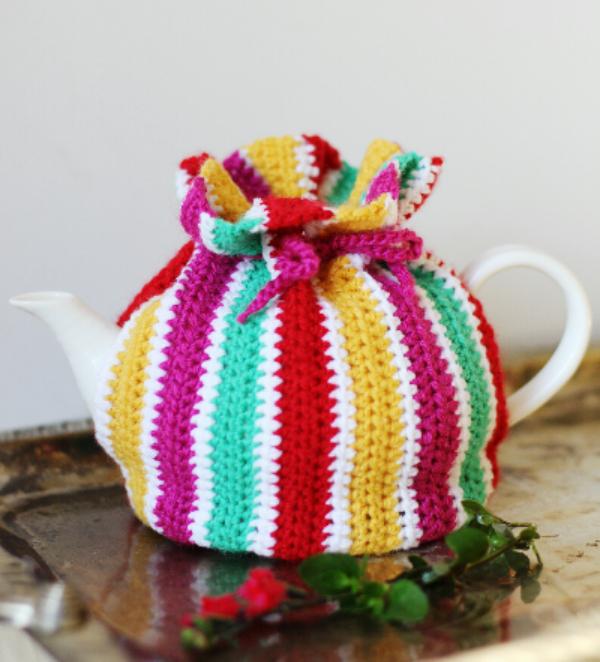 striped teapot cozy