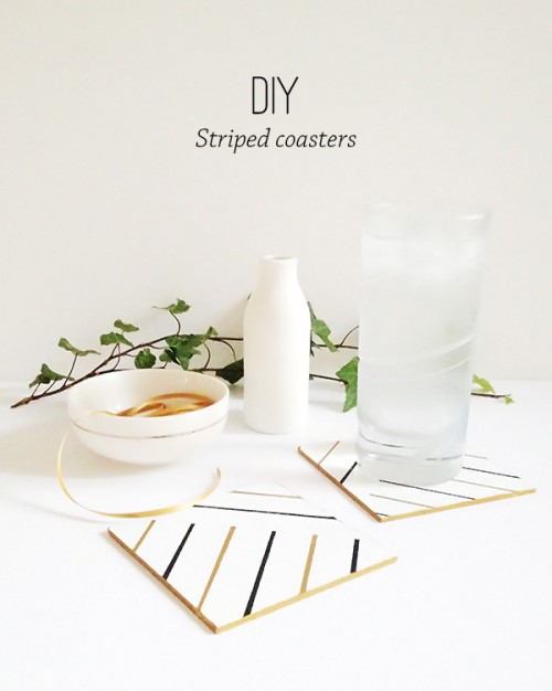 striped coasters (via thecasualcraftlete)