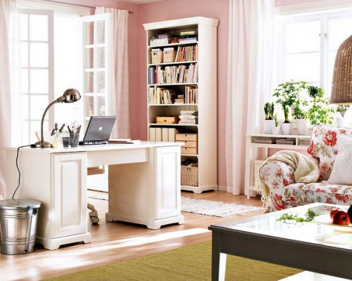 Luxury  Office With Retro Look  Room Decorating Ideas Amp Home Decorating Ideas