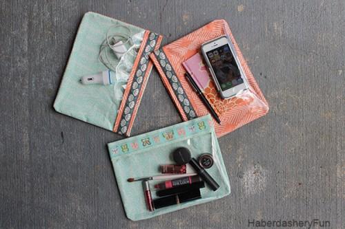 comfy vinyl pouches (via haberdasheryfun)