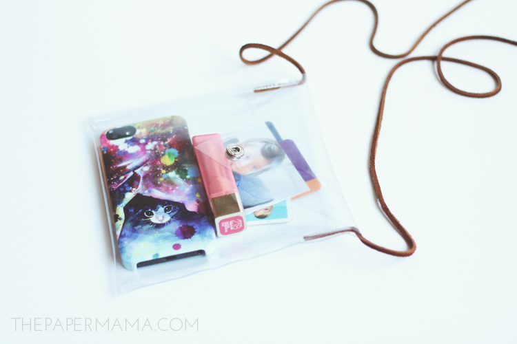 plastic travel purse