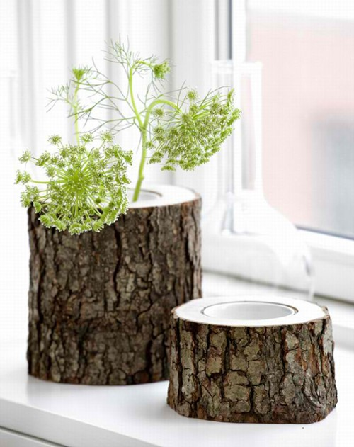 21 Cool Tree Stump Vases You Can Make By Yourself