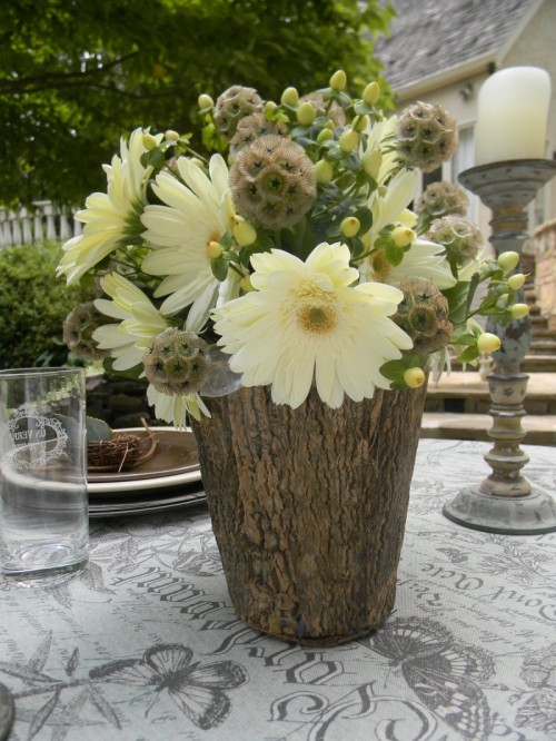 Tree Stump Vases