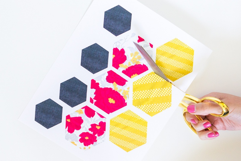 Picture Of trendy and bright diy geometric painted planter  2