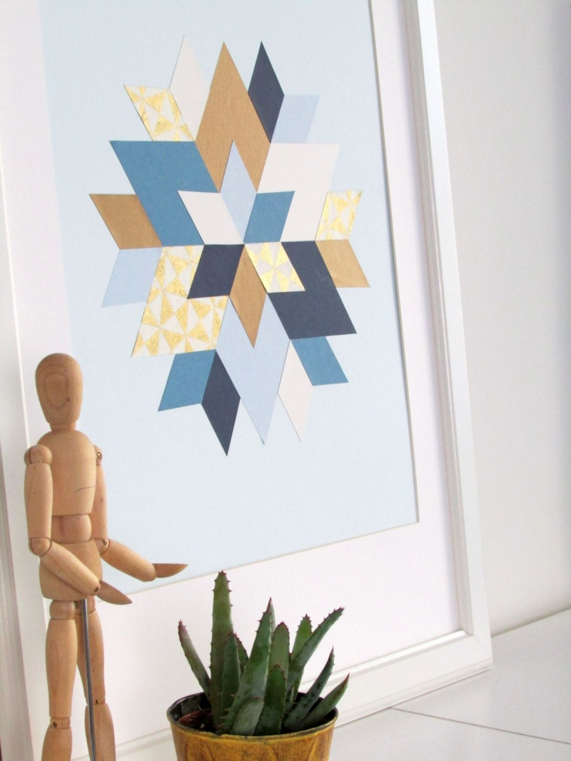 Picture Of trendy and colorful diy geometric wall art  2