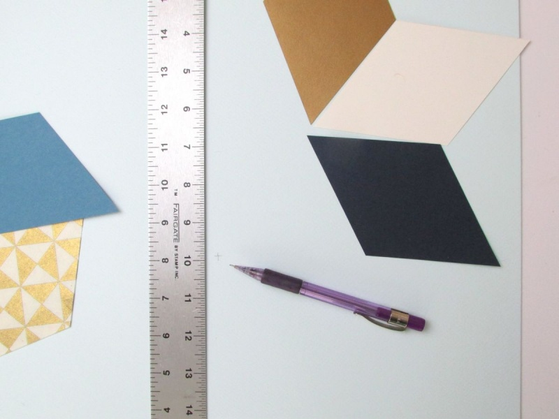 Picture Of trendy and colorful diy geometric wall art  5