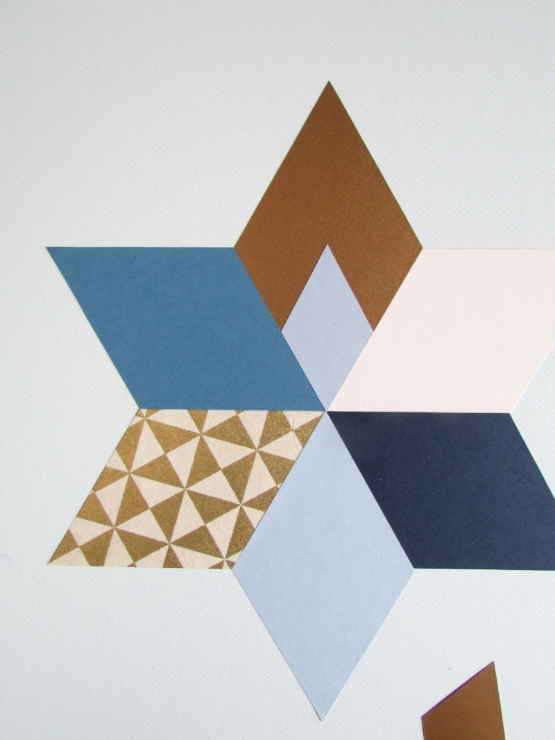 Picture Of trendy and colorful diy geometric wall art  8