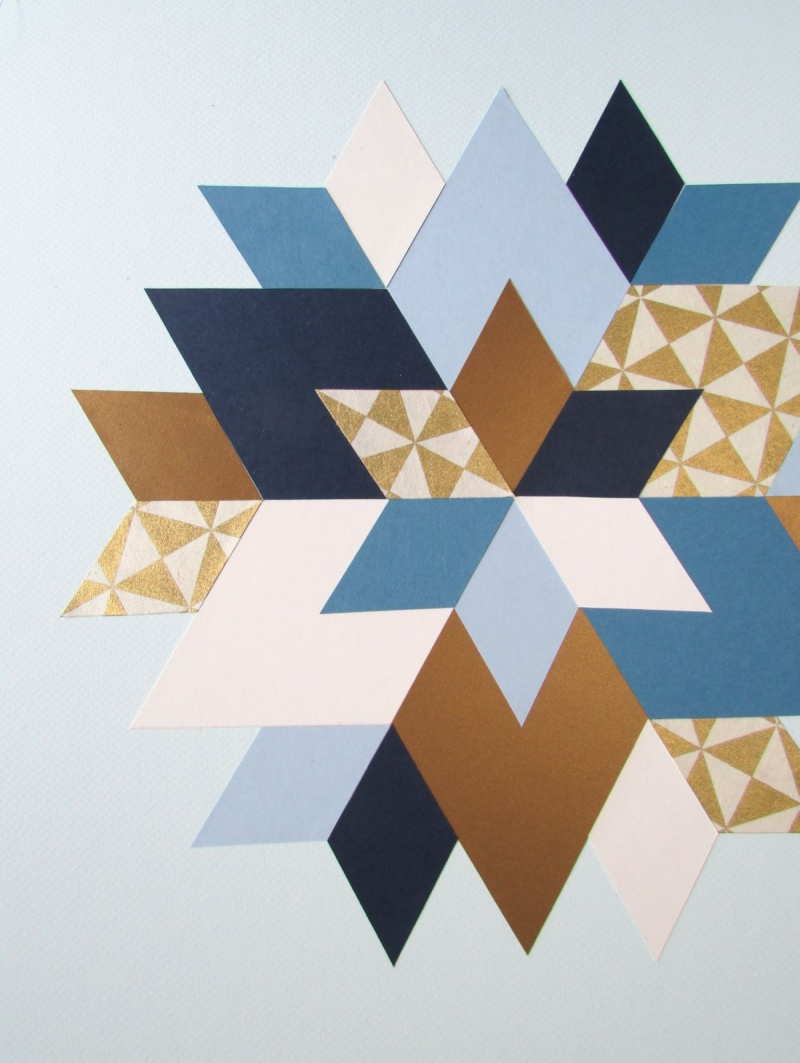Picture of trendy and colorful diy geometric wall art 9 Painting geometric patterns on walls