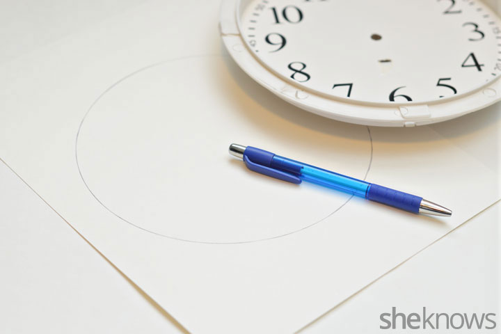 Picture Of trendy and quick diy watercolor clock  3