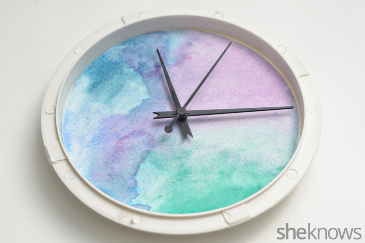 Picture Of trendy and quick diy watercolor clock  6