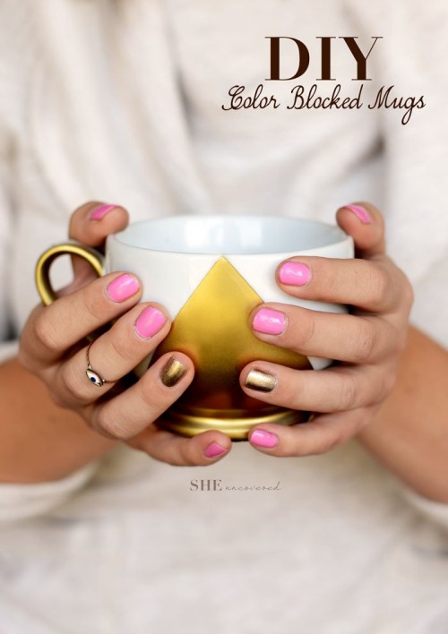 color blocked mugs (via sheuncovered)