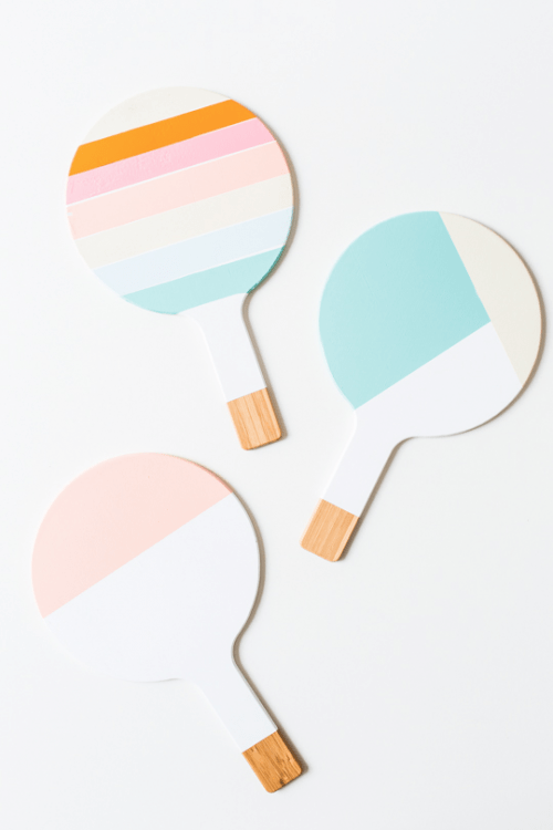 color blocked trivets (via sugarandcloth)