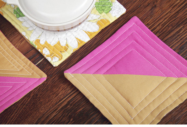color block hot pads